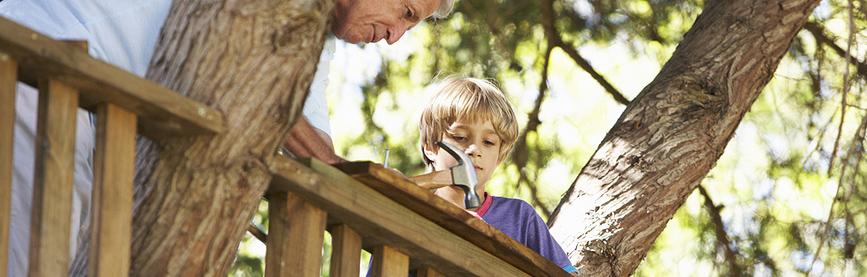 Как сделать домик на дереве для детей